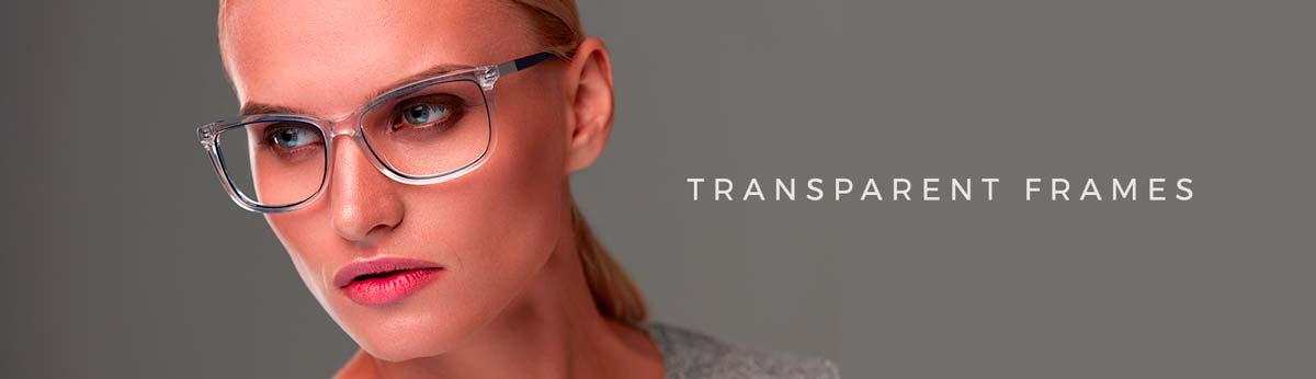 clear/transparent eyeglass frame styles